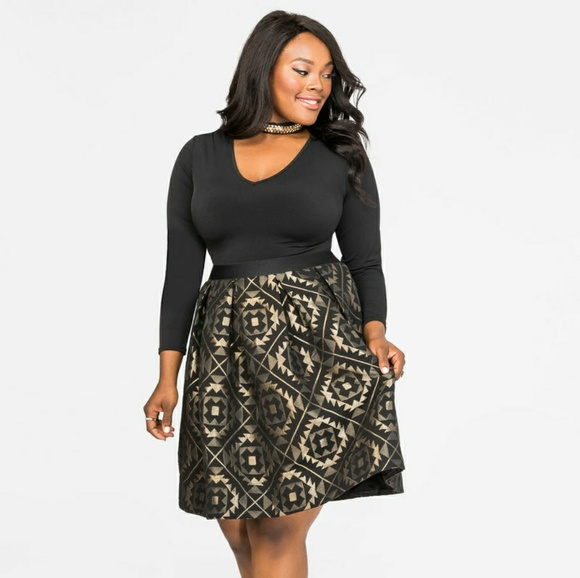 208a73583e Black   Gold Skirt. NWT. Ashley Stewart